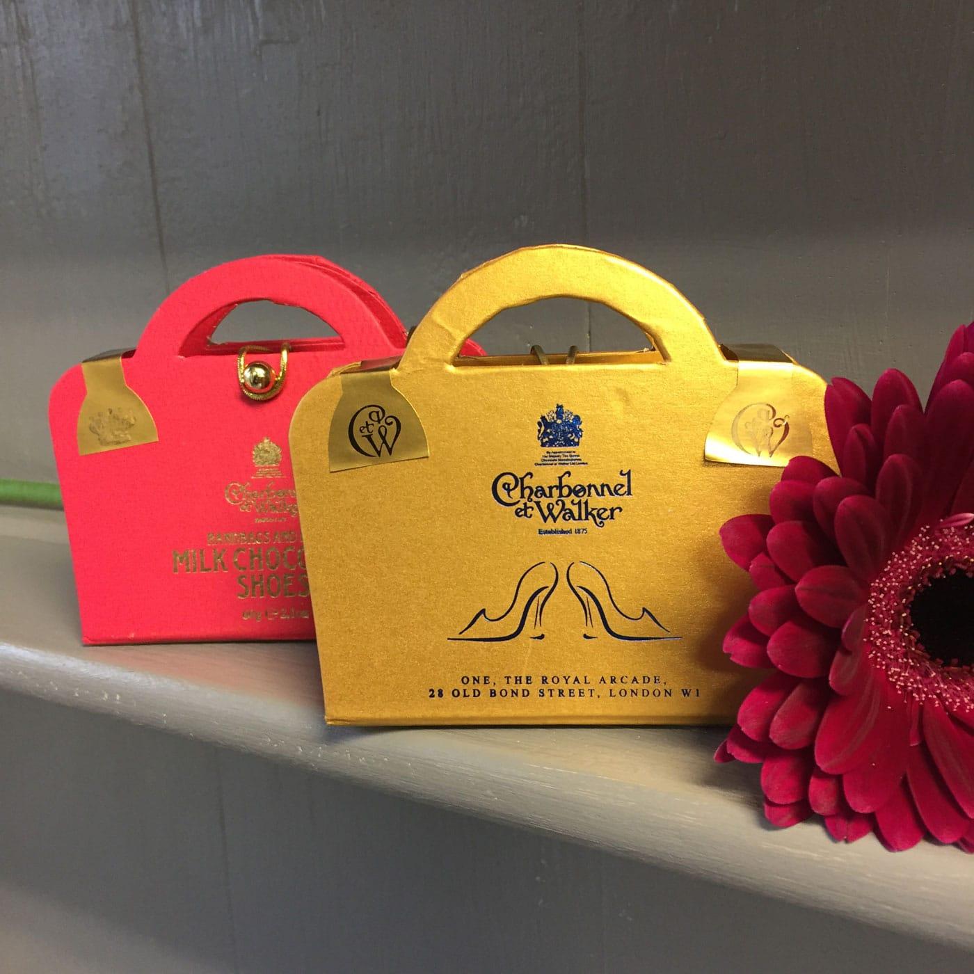 ee69c3faab Charbonnel Et Walker Handbag   Heels Milk Chocolate - Lisa s Florist